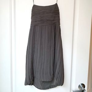 Theory grey strapless pleated dress. (Never worn)